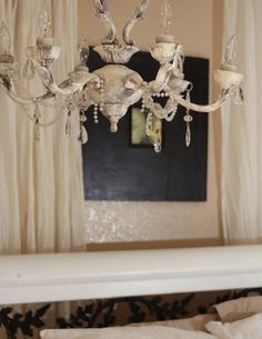 Elegant French  Vintage style Shabby Chandelier by Mosaicus