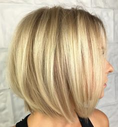 Blonde Balayage Bob With Stretched Roots