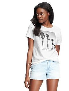 Short-Sleeve City Graphic Tee for Women | Old Navy