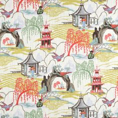 Shop Robert Allen @ Home Neo Toile Coral Fabric at onlinefabricstore.net for $20.7/ Yard. Best Price & Service.