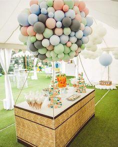 Hot Air balloon dessert table