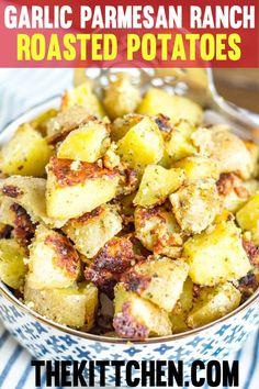Garlic Parmesan Ranch Roasted Potatoes - The BEST Roasted Potato Recipe!