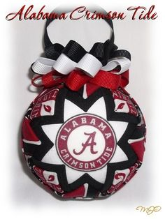University of Alabama Crimson Tide Christmas ornament by Miss Joys Ornaments