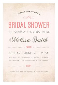 Printable Bridal Shower Invitations You Can DIY Bridal Showers - Bridal shower invitation template