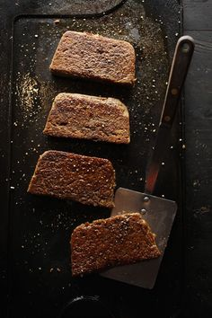 Steel-cut oats bulk up this hearty sausage loaf, an Ohio breakfast staple usually served with eggs and toast. Leave out pork ~ Goetta Recipe Savory Breakfast, Sausage Breakfast, Breakfast Recipes, Breakfast Ideas, Homemade Breakfast, Brunch Ideas, Breakfast Dishes, Breakfast Time, Sausage Recipes