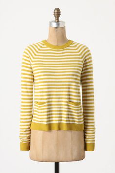 yellow stripe... love the back of this sweater!