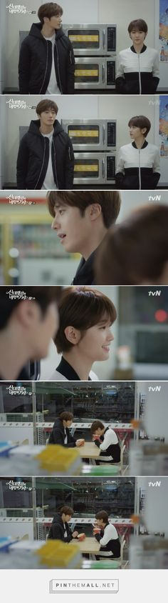That time Ji Woon and Ha Won ate at the convenience store. -- Asian Dramas, Korean, Cinderella and the Four Knights, moments, scenes, cute romantic relationship, couple, screenshots