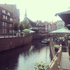 Old Hanse harbor in #Stade, #Germany #travels #travel   Antiguo puerto Hanse en Stade, #Alemania #viajes #viaje