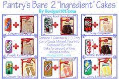Pantry's Bare 2 Ingredient Cake Recipes