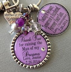 MOTHER of the Groom gift PERSONALIZED keyhain by buttonit