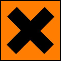 Science Laboratory Safety Signs: Orange Harmful or Irritant Sign