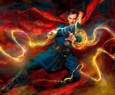 Newly released concept art for Doctor Strange. Or, Benedict Cumberbatch as Roy Mustang.