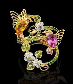 Master Exclusive Jewellery, collection Birds of paradise, hummingbirds ring