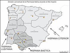 División conventual de España en el Alto Imperio Romano Geography Of Spain, Spanish Garden, Lafont, Iberian Peninsula, Historical Maps, Andalucia, Rome, Medieval, History