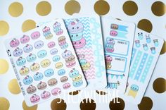 Macaron theme PLANNER STICKERS KIT 4 sheets by STICKWITHMEshop