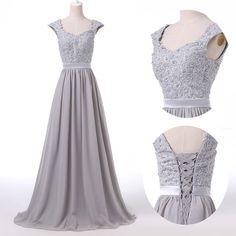 New Backless Evening Dress Bridal Wedding Dresses Gown Ball Bridesmaid PLUS SIZE #GraceKarin #BallGown #Formal