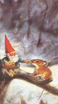 "Rien Poortvliet. I still have my mom's ""Gnomes"" book from when she was a little girl and look at it all the time."