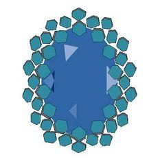 Right Angle Weave Stitch Bezel
