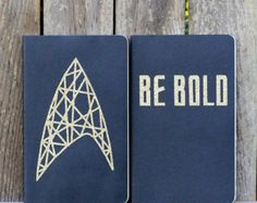 "Be Bold Star Trek Moleskine Notebooks - ruled large black cahier journals - 5"" x 8.25"""