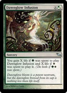 Dawnglow Infusion Shadowmoor Modern Legal Sets Magic The Gathering Magic The Gathering Cards The Gathering Magic The Gathering