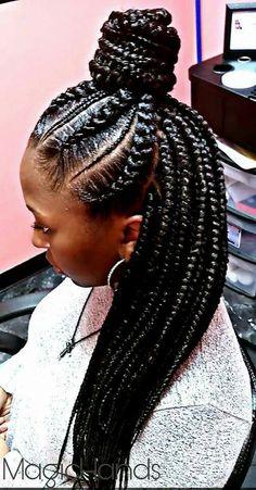 Gonna Braids Ideas gonna do this with a bob in the back ethiopian braids Gonna Braids. Here is Gonna Braids Ideas for you. Gonna Braids this is gonna be my summer beach hair natural hair. Box Braids Hairstyles, African Hairstyles, Girl Hairstyles, Hairstyle Braid, Hairstyle Ideas, Big Braids, Ghana Braids, Girls Braids, Fulani Braids