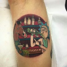Let's mash it up! Rick and Morty and Bojack by Elliot Crombie (via IG -- elliotcrombie) #elliotcrombie #rickandmorty #bojack #bojackhorseman #bojackhorsemantattoo