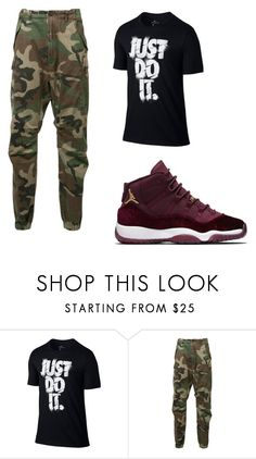 """""""Untitled #9"""" by angel13-eri ❤ liked on Polyvore featuring NIKE, R13, men's fashion and menswear"""