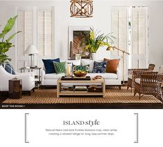 Island Style Furniture & Decor | Williams-Sonoma | Williams-Sonoma