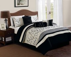 queen bedroom sets on saleKohls Bedroom Sets Lovely Luxury Queen Bedding Sets On Sale — All Home Ideas and Decor Room Give Your Bedroom a R. Queen Bedroom, Queen Comforter Sets, Queen Beds, Bedroom Sets, Master Bedroom, Bedroom Decor, Decor Room, Embroidered Bedding, Bed In A Bag