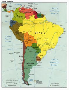 South America Travel Route + guyana, suriname and french guyana South America Map, Central America, Latin America Map, South America Continent, America America, Ecuador, Travel Route, World Geography, Geography Lessons