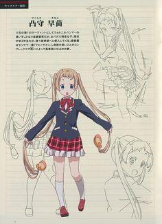 Kyoto Animation, Chuunibyou demo Koi ga Shitai!, Sanae Dekomori, Character Sheet