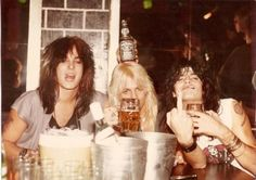 Nikki Sixx, Vince Neil and Tommy Lee