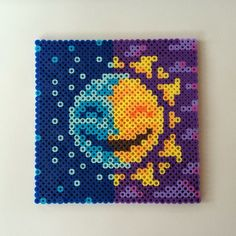 Sun  Moon perler beads by wordsfreeme