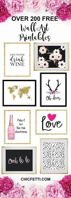 Idée déco murale, cadre et citation - Free Printable Wall Art from @chicfetti - easy wall art diy - Just print and frame!