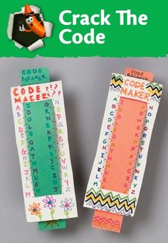 Create fun messages to decode with these smart DIY code breakers for kids.