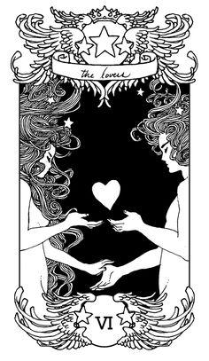 The Lovers card in Tarot Deck :)) Tarot Card Tattoo, The Lovers Tarot Card, Arte Obscura, Card Drawing, Tarot Learning, Tarot Card Meanings, Tarot Spreads, Major Arcana, Oracle Cards