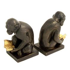 Found it at Wayfair - Monkey Book Ends