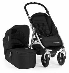 @>>  Bumbleride Indie 4 Urban All Terrain Stroller with Bassinet, Jet Black by Bumbleride