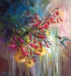Available Paintings — Gary & Kathwren Jenkins Paint with Passion Art Gallery, Flower Painting, Examples Of Art, Hummingbird Painting, Floral Art, Still Life Art, Painting, Oil Painting, Art
