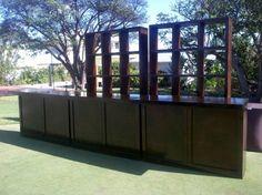 Tonga Bar Mahogany with Classic Back Bar Units