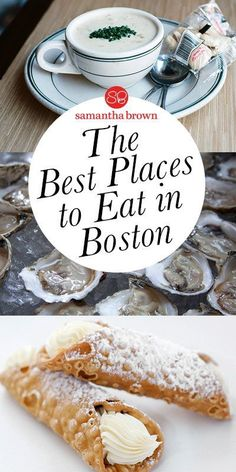 The Best Places to Eat in Boston From chowder to cannoli, oysters to Italian fare, Beantown's food scene is full of character. Here are the best places to eat in Boston. Boston Weekend, Boston Vacation, Boston Travel, Vacation Spots, Boston Shopping, Vacation Ideas, April Vacation, Vacation Destinations, East Coast Travel