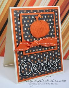 pumpkin and October from Designers Calendar (video on blog)
