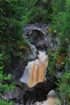Muddy Waters, Falls of Braur, Scotland.