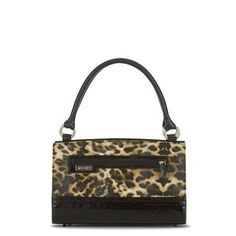 Silvia Elegant leopard print faux leather with glossy black patent leather accents evokes the golden age of cinema while still exuding modern flair. The Silvia Shell for Classic Bags brings to mind sultry and mysterious stars. Do you feel glamorous today? Front zippered exterior pocket. www.mollymccollum.miche.com
