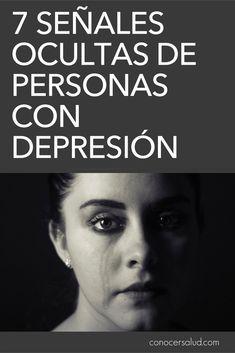 7 Señales ocultas de personas con depresión #salud