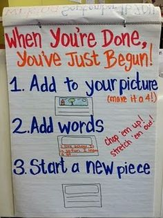 Writing anchor chart....Can't tell you how many times I say this a day!!