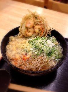 海老かき揚げ蕎麦
