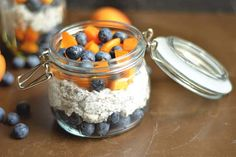 Apricot Blueberry Chia Pudding | week 6/26/18 - blueberries apricots