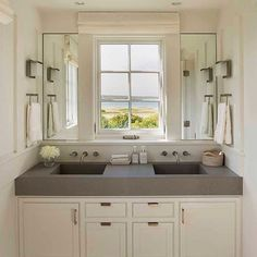 Counter top faucets out of the wall