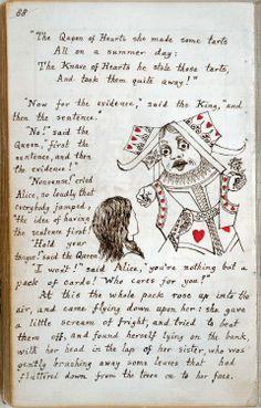 Lewis Carroll original manuscript